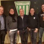 Der neue Kickers-Vorstand: (v.l.n.r.) Harald FÜNER (Vorstand Finanzen), Dr. Dietrich Claus BECKER (2. Vorsitzender), Erich FRICKE (1. Vorsitzender), Prof. Stefan BLÜMM (Jugendleiter), Peer ROMBACH (Beisitzer).