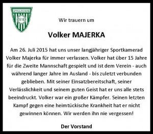 Spvgg. Kickers 1916 - Wir trauern um Volker Majerka