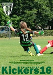 Mädchenmannschaft bei Kickers 16 ab Sommer 2019 - sei dabei! Das Trainerteam Hellen und Peer freut sich auf Dich !